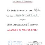 Certyfikat 1992.11.27 szkolenie Warszawa