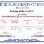 Certyfikat 1994.10.17 szkolenie Lodz
