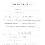 Certyfikat 1996.04.10 szkolenie Warszawa
