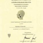Certyfikat 1996.05.23 Kongres Poznan