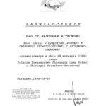 Certyfikat 1996.09.28 szkolenie Warszawa