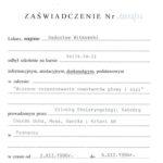 Certyfikat 1996.12.02 szkolenie Poznan