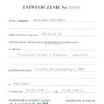 Certyfikat 1998.04.20 szkolenie Warszawa