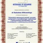 Certyfikat 2000.05.13 Konferencja Osteologii Krakow