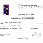 Certyfikat 2001.05.10 szkolenie Kiel