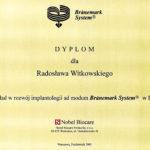 Certyfikat 2001.11.dyplom Warszawa