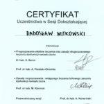 Certyfikat 2002.05.25 szkolenie Kazimierz Dolny