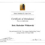 Certyfikat 2004.04.19 szkolenie Lurago dErba Wlochy