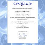 Certyfikat 2004.04.22 szkolenie Lucerne Szwajcaria