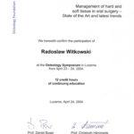 Certyfikat 2004.04.24 symposium Lucerne
