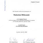 Certyfikat 2004.04.24 symposium Lucerne 2