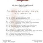Certyfikat 2004.10.06 szkolenie Warszawa