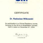 Certyfikat 2004.12.06 szkolenie Lizbona Portugalia