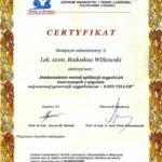 Certyfikat 2005.06.26 szkolenie Lodz