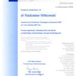 Certyfikat 2006.04.01 szkolenie Warszawa