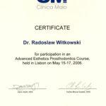 Certyfikat 2006.05.15 szkolenie Lizbona Portugalia
