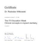 Certyfikat 2006.10.13 szkolenie Berne Szwajcaria