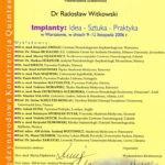 Certyfikat 2006.11.09 szkolenie Warszawa
