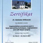 Certyfikat 2007.03.23 szkolenie Olsberg Niemcy