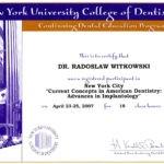 Certyfikat 2007.04.23 25 szkolenie Nowy Jork
