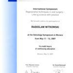 Certyfikat 2007.05.11 szkolenie Monako