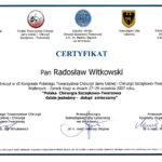 Certyfikat 2007.09.27 szkolenie Walbrzych