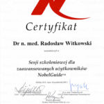 Certyfikat 2007.10.06 szkolenie Sopot