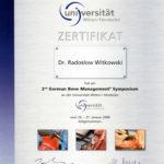 Certyfikat 2008.01.25 szkolenie Herdecke Niemcy