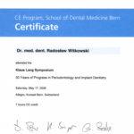Certyfikat 2008.05.17 szkolenie Berno Szwajcaria