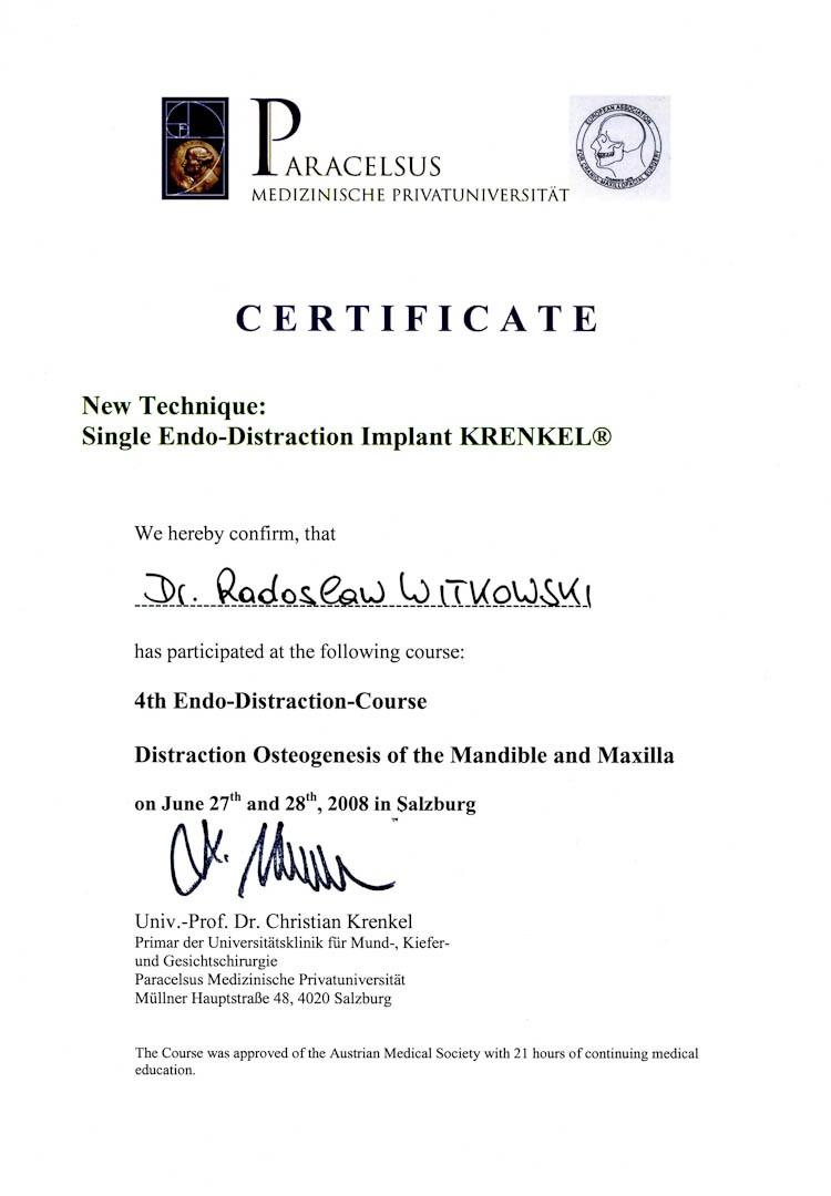 Certyfikat 2008.06.27 szkolenie Salzburg Austria
