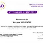 Certyfikat 2008.09.20 szkolenie Warszawa