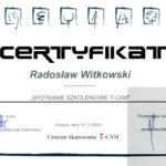 Certyfikat 2008.11.19 szkolenie Krakow