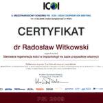 Certyfikat 2009.05.14 szkolenie Wisla