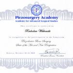 Certyfikat 2009.10.30 szkolenie Genova Wlochy