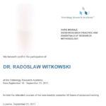 Certyfikat 2011.09.19 szkolenie Lucerne Szwajcaria