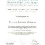 Certyfikat 2011.10.28 szkolenie Frankfurt Niemcy