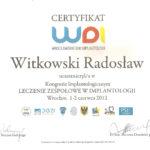 Certyfikat 2012.06.01 szkolenie Wroclaw