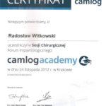 Certyfikat 2012.11.24 szkolenie Krakow