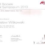 Certyfikat 2013.06.20 symposium Nowy Jork