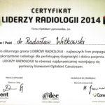 Certyfikat 2014 Wroclaw