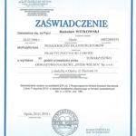 Certyfikat 2016.01.24 zaswiadczenie Opole