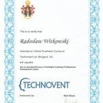 Certyfikat 2016.07.6 7 szkolenie UK