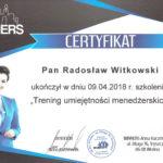 Certyfikat 2018.04.09 szkolenie Wtelno